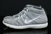 Nike Lunar Flyknit Chukka Htm Snow Pack Grey Charcoal White 599347 011 Size 12