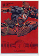 2013 Marvel Fleer Retro Red Pmg 27 Deadpool 49/100 Ungraded Sold As Is
