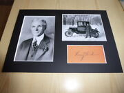 Henry Ford And Ford T In Finland Mounted Photographs And Preprint Autograph
