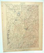 Kinderhook Chatham Stottville New York Antique Usgs Topographic Map 1903 Topo