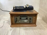 Spirit Of St. Louis Classic Home Phonograph Cd Player And Radio For Parts Repair
