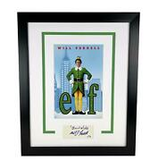 Elf Will Ferrell Autographed Signed 16x20 Photo Display Acoa