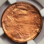 Ngc Ms66rd Struck Thru Cloth Copper Lincoln Cent Mint Error Amazing Eye Appeal
