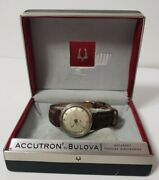 Vintage Bulova Accutron Wristwatch Stainless Steel With Box 1968