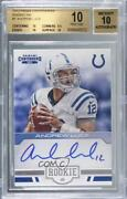 2012 Panini Contenders Ink /25 Andrew Luck 1 Bgs 10 Pristine Rookie Auto