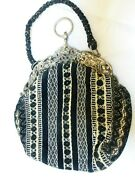 Antique 19c Repose Sterling Silver Frame Clutch Evening Purse Bag, One Of Kind