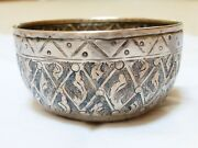 Highly Collectible 19c Antique Chinese Sterling Silver Bowl Marked In Chinese