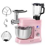 Stand Mixer With Meat Grinder And Juice Blender 6 In 1 800w Tilt-head 6.5 Qt