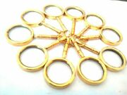 Magnifying Key Chain Vintage Collectible Marine Nautical Brass Lot Of 100 Pcs