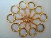 Lot Of 100 Pcs Magnifying Key Chain Vintage Collectible Marine Nautical Brass