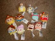Disney Store Ufufy Plush Soft Collectables - Snow White Belle Beast Dumbo X10