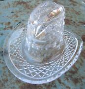 Waterford Cowboy Hat Sculpture Stetson Lead Crystal