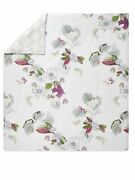 1285 Yves Delore Riviera 4pc King Duvet Cover Fitted Flat Sheet Flower France