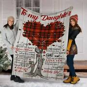 To My Daughter Fleece Blanket Mother Tree Gift From Mom Birthday Gift Baby Girl