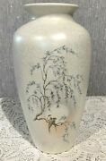Poole Pottery Vase Parrots And Willowtree Lustre 8 Tall Perfect