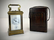Antique Brass Carriage Clock. Eight Day Striking And Repeating
