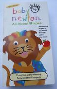 Baby Einsteinbaby Newton All About Shapes Vhs 2002 Ages 1+ 1+ Shipping