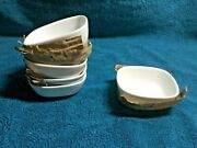 6 Italian Designer Alessi For Delta Airlines White Modern Sauce Dishes