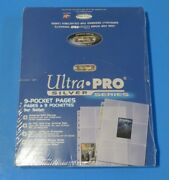 New Ultra Pro Silver Series 100 9 Pocket Pages Card Size Sleeves 1+ Ship