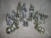 Mexico 12 Piece Nativity Scene Christmas Figures And Animals Manger