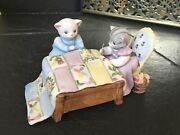 Kitty Cucumber Quilting Bee Music Box By Schmid Musical