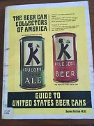 The Beer Can Collectors Of America Guide To Us Beer Cans Kruegers Finest K Man