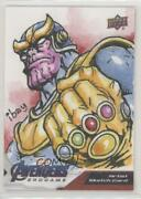 2020 Marvel Avengers Endgame And Captain Sketch Cards 1/1 Ramil Ibay Auto 07yb