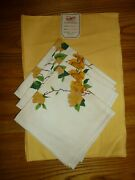 Vintage Cloth Napkins And Placemats Wilendur Set Of 4 Stunnng Think Spring