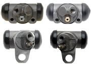 4 Drum Brake Wheel Cylinders Front + Rear L And R For Chevy Gmc Pontiac