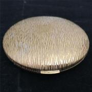 Vintage Charles Of The Ritz Compact - Gold Design With Original Puff - Usa