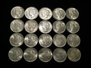 1923 Peace Silver Dollars Roll Of 20 Coins Choice Au - Unc. 90 Silver L2