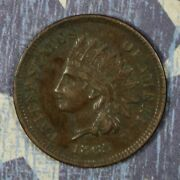 1865 Indian Head Cent Fancy 5 Collector Coin Free Shipping