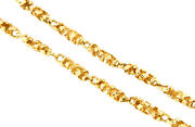 14k Yellow Gold Unisex 5mm Nugget Link Chain 21.5