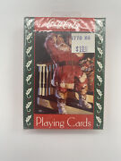 Vintage 1993 Coca Cola Playing Cards Santa Claus Drinking Coke Christmas New