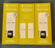 300 Count Lathem E7-100 Time Cards 2-sided 3 3/8 X 7 1/4 7000e/7500e Only