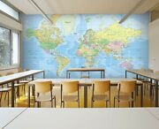 3d World Map Kep315 Wallpaper Mural Self-adhesive Removable Sticker Bea