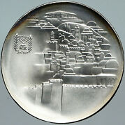 1968 Israel Jewish Old Temple Gate Jerusalem View Silver 10 Lirot Coin I88516
