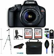 Canon Eos Rebel T100 Eos 4000d Dslr Camera W/ 18-55mm Dc Iii Zoom Lens + More