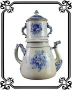 Vintage French Antique Rare Large Earthenware Coffee Pot 19th