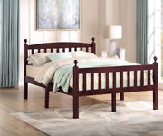 100 Solid Wood Pine Full Bed Mahogany
