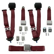 For Lincoln Continental 40 3-point Airplane Buckle Retractable Bench Seat Belts