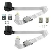 For Lincoln Continental 40 2-point Airplane Buckle Retractable Bucket Seat Belts