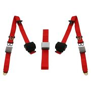 For Ford Thunderbird 77-79 3-point Airplane Buckle Retractable Bench Seat Belts