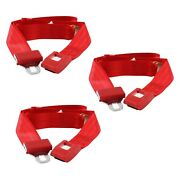 For Jeep Cj7 76-86 Safetboy 2-point Standard Buckle Bench Lap Seat Belts Red