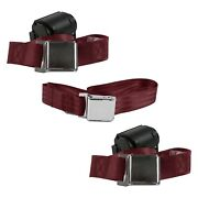 For Buick Roadmaster 57-58 2-point Airplane Buckle Retractable Bench Seat Belts