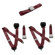 For Buick Roadmaster 54-56 3-point Airplane Buckle Retractable Bench Seat Belts