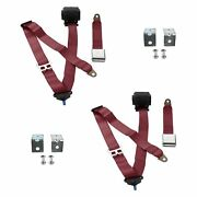 For Buick Roadmaster 57-58 3-point Airplane Buckle Retractable Bucket Seat Belts