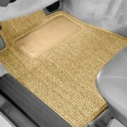 For Honda Cr-v 97-01 Sisal Auto Mat Carpeted 1st And 2nd Row Tan Floor Mats