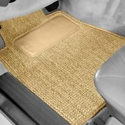 For Jeep Liberty 02-04 Sisal Auto Mat Carpeted 1st And 2nd Row Tan Floor Mats