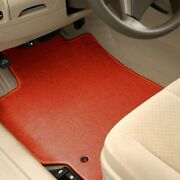 For Honda Ridgeline 17-20 Carpeted 1st And 2nd Row Burned Red Floor Mats